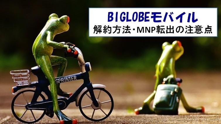 BIGLOBEモバイル 解約方法 MNP転出方法
