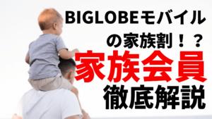 BIGLOBEモバイル 家族割 メリットデメリット 家族会員
