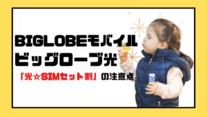 BIGLOBEモバイルとビッグローブ光の「光☆SIMセット割」の注意点を徹底解説!【知らないと損!】