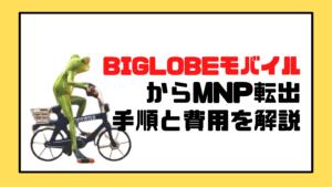 BIGLOBEモバイルからMNP転出する手順を解説!即日できる?